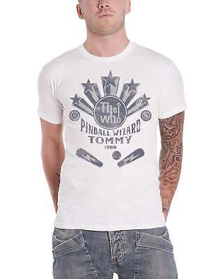 The Who T Shirt Pinball Wizard Flippers Band Logo new Official Mens White