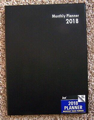 Black 2018 Monthly Planner Organizer - Calendar Monthly Format- 8 X 11
