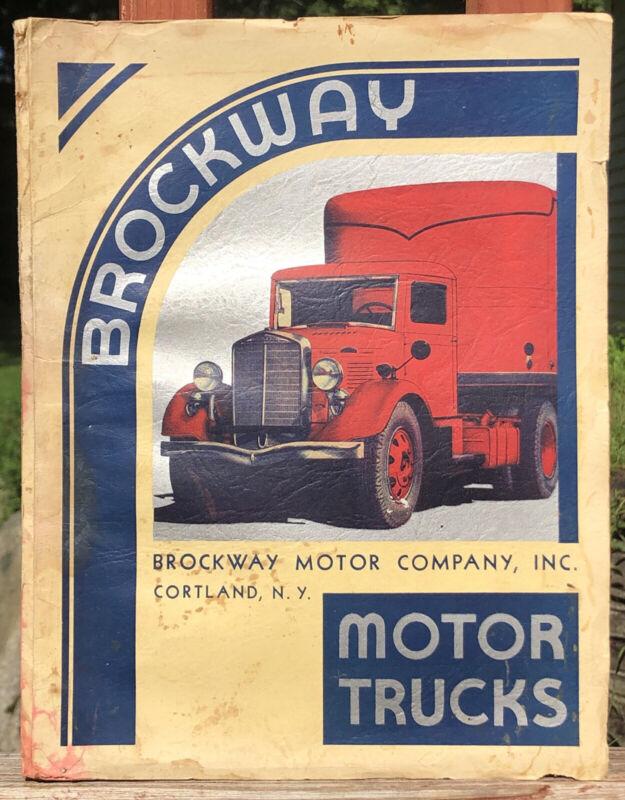 Vintage BROCKWAY Motor Co. TRUCKS Book Catalog Manual