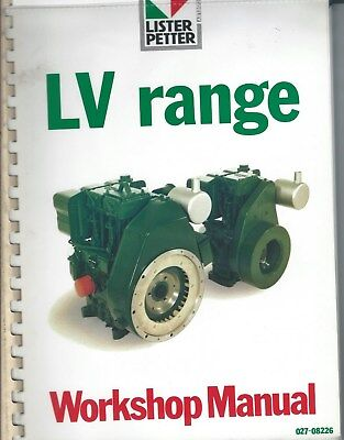 Equipment Manual - Lister Petter - Lv 1 2 Range - Workshop Engine Repair E3908