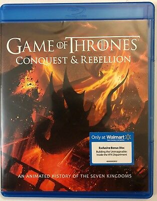 Game Of Thrones Conquest   Rebellion   Wal Mart Exclusive Blu Ray Bonus Disc