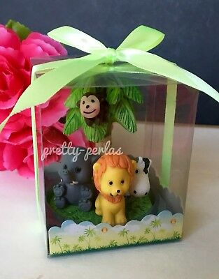 Jungle Baby Shower Party Supplies (6 Baby Shower Animals Safari Party Favors Figurines Noahs Jungle)