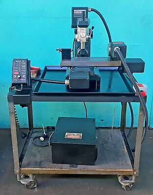 Servo Impact Cnc Mini Mill With 4th Axis Rotary Table M-7844-842