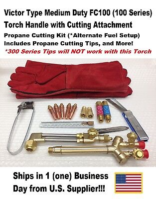Victor Type 100fc Cutting Torch W Cutting Attachment-propane Kit