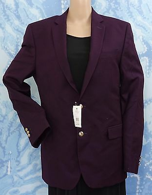 Versace Men's Collection Notch Lapel Purple Sport Coat blazer jacket,US 40,44,46