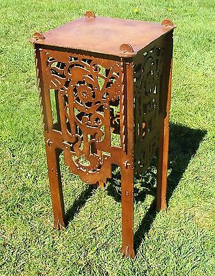 """Pedestal Table Plant Stand Carved Twisted Ornate wood Beautiful 26.57"""""""