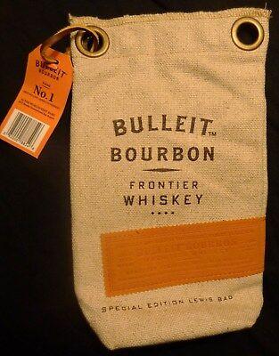 - Bulleit Bourbon - Special Edition Lewis Bag - Burlap Bag - Crushed Ice Bag - NEW