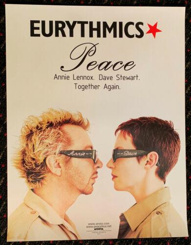 EURYTHMICS Peace 17x22 original record store promo poster Annie Lennox 1999