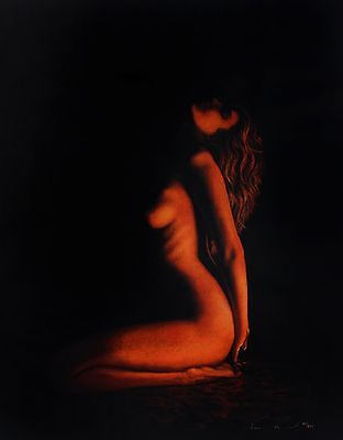 """JOHN MOULD """"Sensuality"""" nude woman signed LIMITED! SIZE:70cm x 55cm SEE OUR SHOP"""