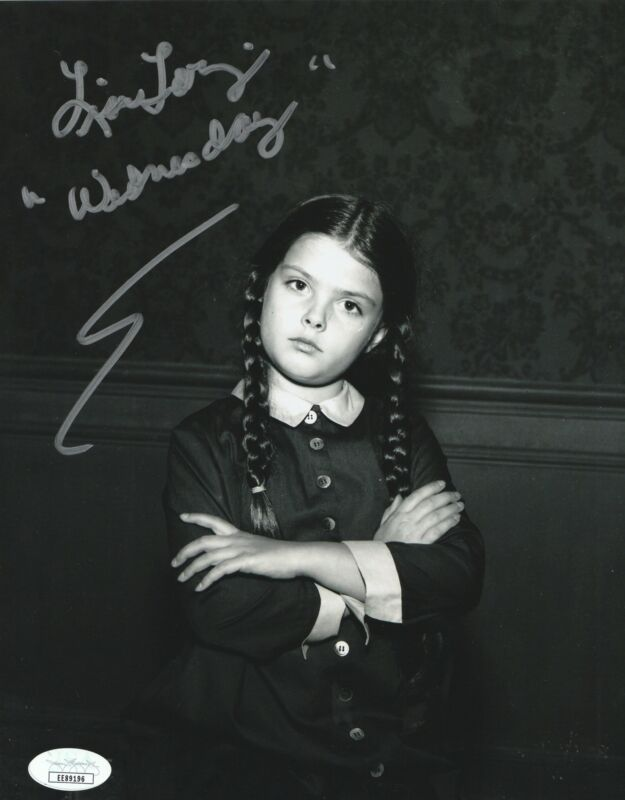 Lisa Loring Autograph 8x10 Photo The Addams Family Wednesday Signed JSA COA