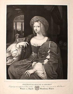 Johanna I von Kastilien die Wahnsinnige Jeanne d' Arragon Aragón. Original