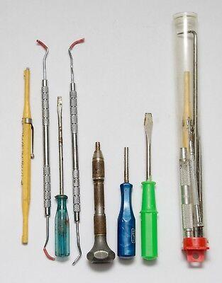 Vintage Dentist Lot - 13 Dental Instruments Tools Mix Brand Mix Country