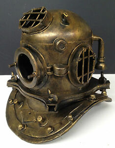 Metal Antique Style Diving Divers Deep Sea Helmet Ornament Statue Table Desk NEW