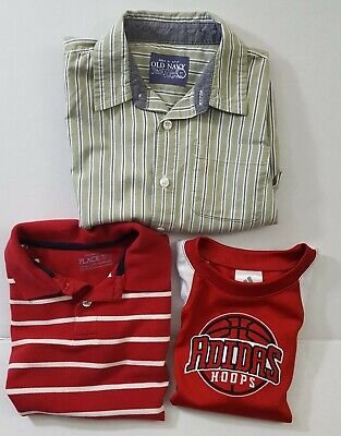Boys Size  XS 4 / 4T  Tops  ( Lot of 3 ) Addidas, Old Navy, Children's Place EUC