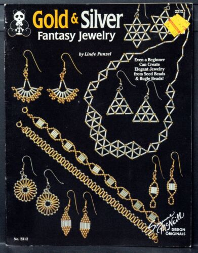 GOLD & SILVER FANTASY JEWELRY Instruction Book • 1992 • 18 Bead Patterns