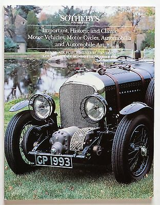 Sotheby's Auction Catalogue: Important, Historic and Classic Motor Vehicles, Mot
