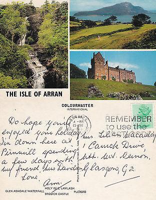 1982 MULTI VIEWS OF THE ISLE OF ARRAN SCOTLAND COLOUR POSTCARD