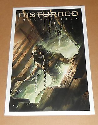 Disturbed Immortalized Poster Original Promo 11x17
