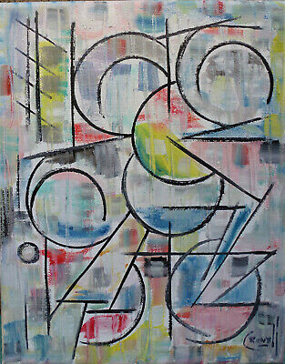 abstract THE BEST LOVE new oil painting 8x10 canvas original art signed
