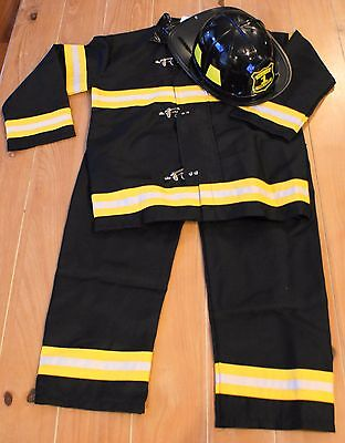 New Pottery Barn Teens FIREFIGHTER Fireman Costume & Hat Kids Size 9-10](Male Fireman Costume)