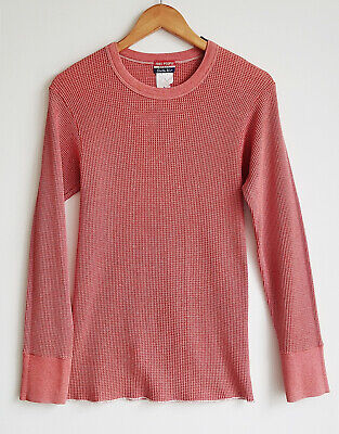 Vintage Free People Original Red White Long Sleeve Cuff Knit Thermal Small XS