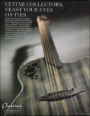 The Ovation Collectors Series Dragon Wood Elite guitar ad 8 x 11 advertisement
