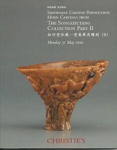 CHRISTIE'S HK IMPORTANT RHINOCEROS HORN CARVINGS Songzhutang Coll Catalog 2010
