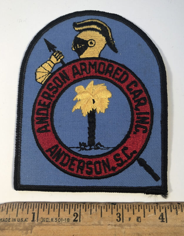 Vintage Anderson Armored Car Patch South Carolina