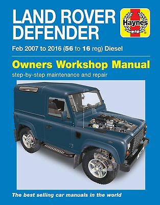 6398 Haynes Land Rover Defender 90, 110 & 130 Diesel (Feb 2007 - 2016) Manual