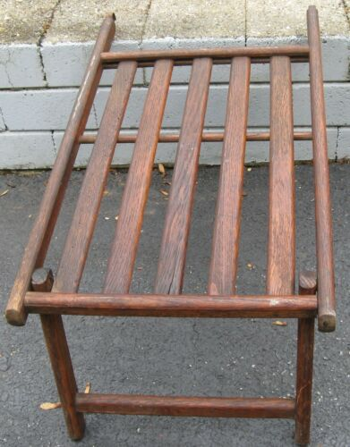 AWESOME ANTIQUE WOODEN LUXURY SHIP DECK CHAIR FOOT STOOL EXTENDER/OTTOMAN