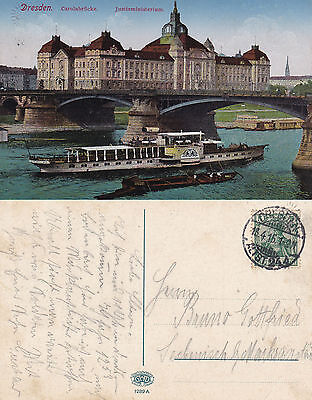 DS KAISER WILHELM II GERMAN DAY CRUISER A SHIPS CACHED POSTCARD DATED 1916