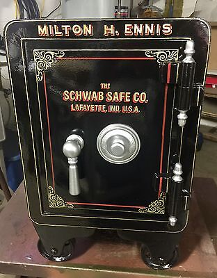 Antique Restored Schwab Safe Like Halls And Mosler Small