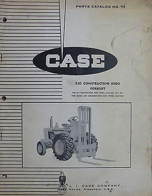 Original Case Parts Catalog No. 918 530 Construction King Forklift Issued 1964