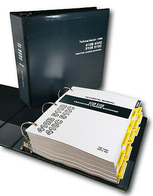 Service Manual For John Deere 410b 410c 510b 510c Tractor Loader Backhoe Repair