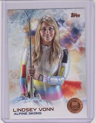 2014 Topps Olympic Lindsey Vonn Bronze Parallel Card  88 Skiing Legend   Qnty