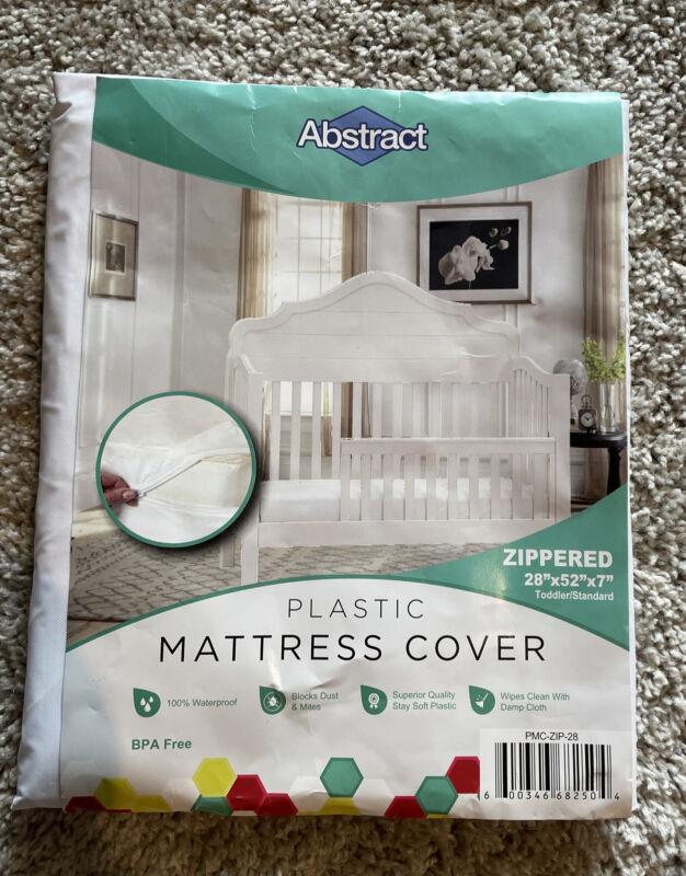 Abstract Waterproof Baby Mattress Cover - Heavy Duty Vinyl Plastic f/ Bed Crib