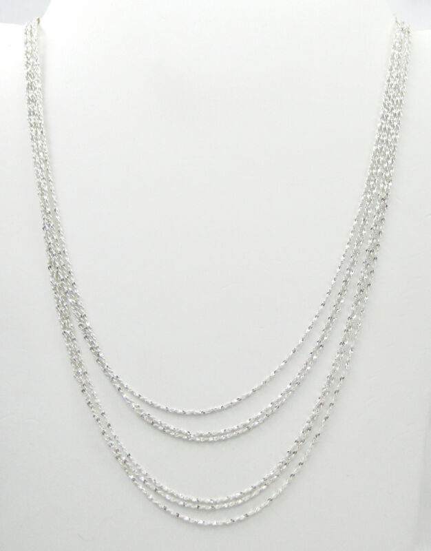 Wholesale Lot of 6 Twisted Serpentine 3-16 3-18 Inch Sterling Silver Chains F538