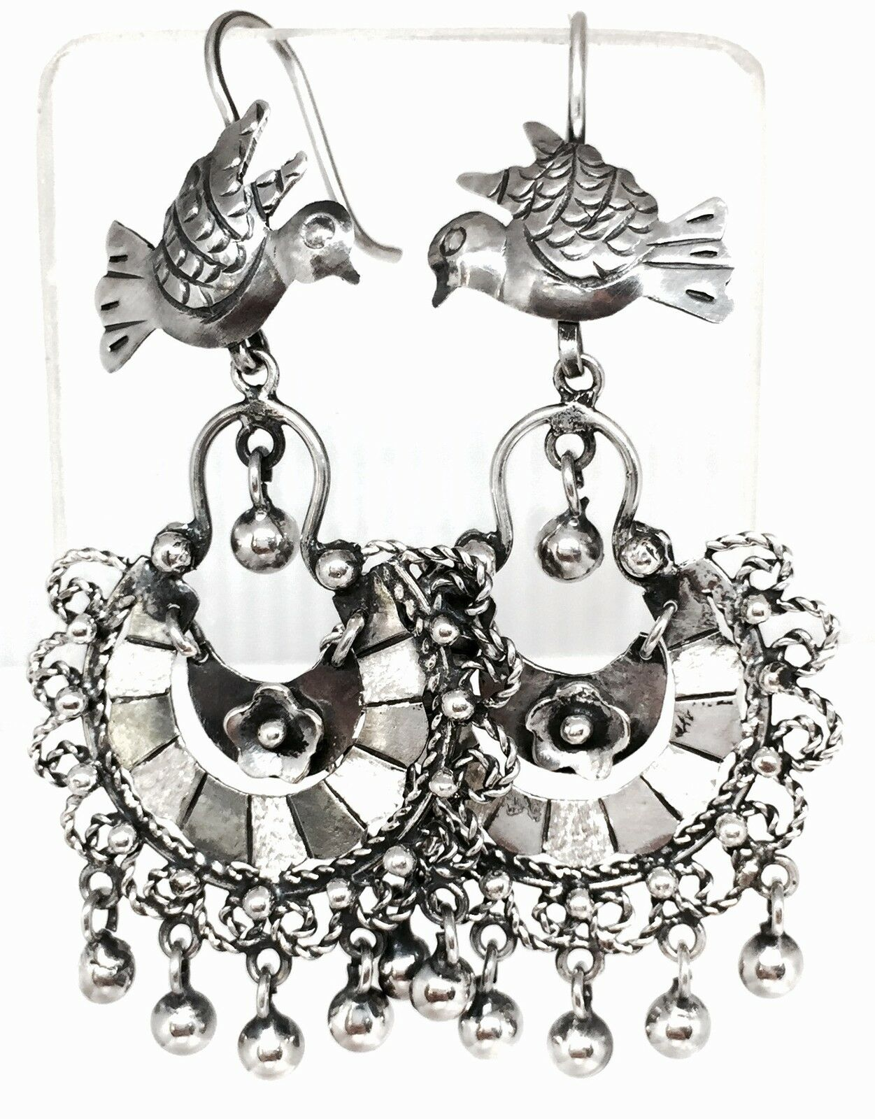 Mexico Frida Kahlo Earrings BIG Mexican Early Sterling Earrings Screwback Cuernavaca FREE US Shipping