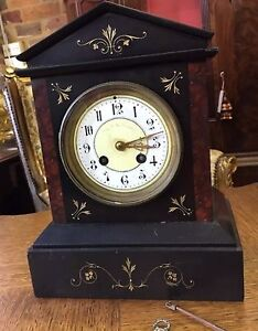 French mantle marble clock West Footscray Maribyrnong Area Preview