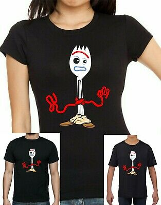Ladies, mens and Childrens Disney Pixar Toy Story 4 Forky T-shirt