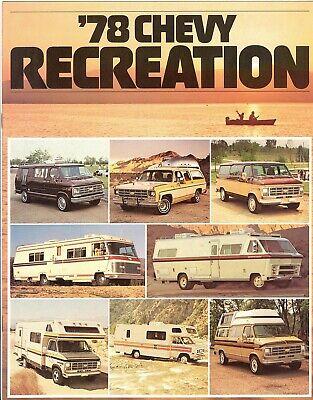 1978 Chevrolet Pickup Trucks Campers Motor Homes Vans  Recreation Sales Brochure