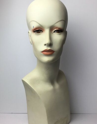 Vintage Store Display Mannequin Head Bust 60s