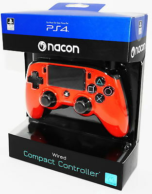 Nacon PS4 Controller / Gamepad Compact Color Edition - rot - Neu & OVP