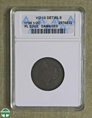 1795 HALF CENT - PLAIN EDGE - ANACS CERTIFIED - VG10 DETAILS