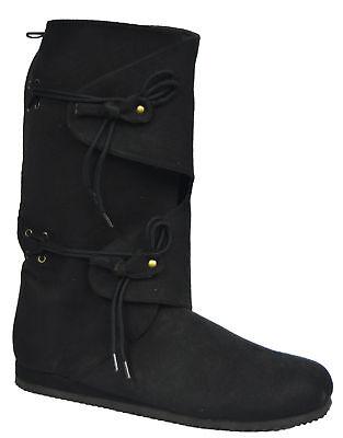 Schwarz Hoch Herren Krepp Gummisohle Ellie Schuhe (Renaissance Stiefel Herren)