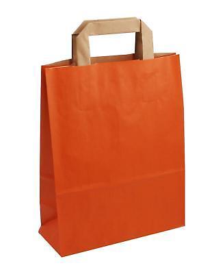 Orange Papiertüten (250 Papiertragetaschen orange 22+10x28cm Tüten Taschen)