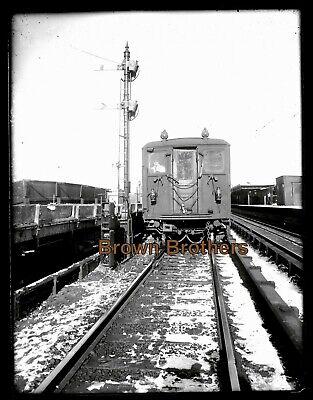 1900s New York City Subway Train with Conductor Glass Photo Camera Negative BB