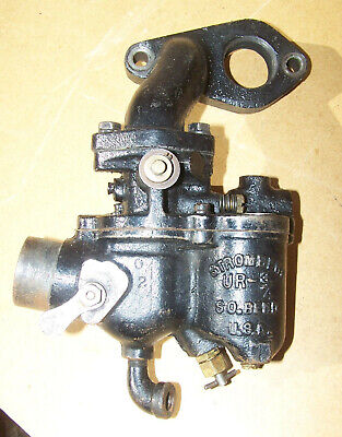 Stromberg UR-3/4 carburettor cast iron + manifold vintage stationary engine carb