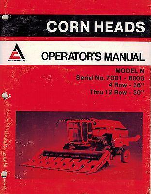 Allis Chalmers Gleaner N Corn Head Operator Manual 36 30 Serial 7001-8000