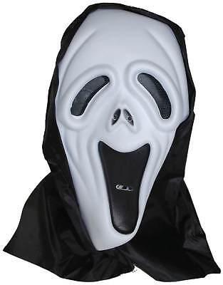 Maske Scream mit Kapuze Horror Grusel Karneval Fasching Halloween